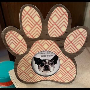 Other - Paw print photo frame